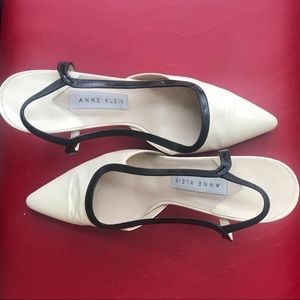 Anne Klein leather  sling back shoes